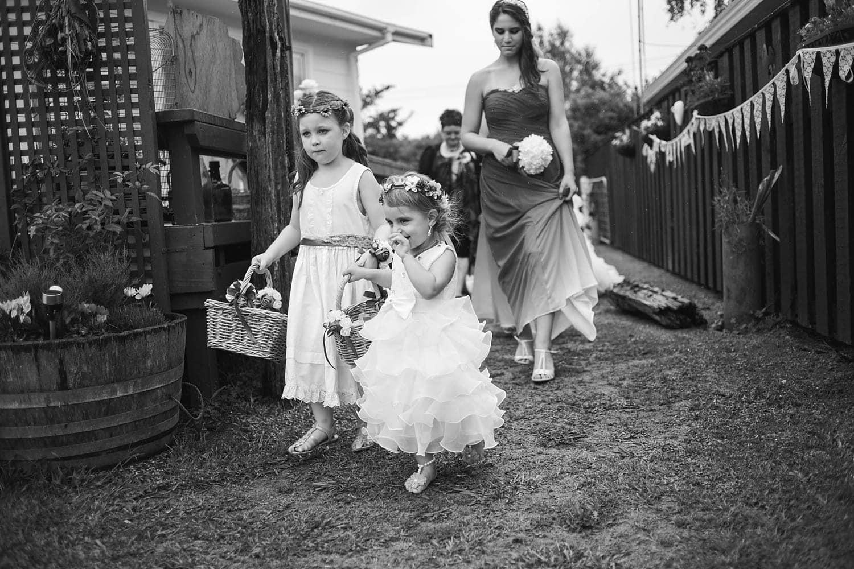 Lisa and Kerry's Intimate backyard wedding
