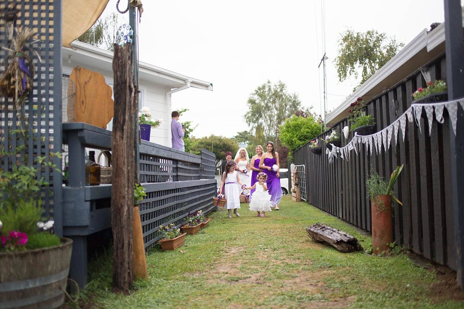 Lisa and Kerry's Intimate backyard wedding
