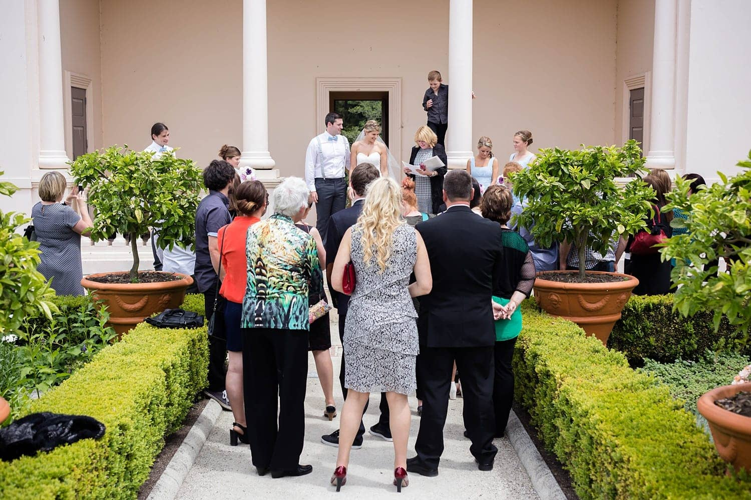 Aisha and Sam's Italian Renaissance Garden Wedding at Hamilton Gardens NZ