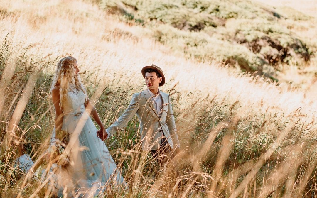 A Wildly Romantic Styled Bridal Shoot at Ruapuke, West Coast, New Zealand | Waikato Wedding Photographer