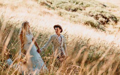 A Wildly Romantic Styled Bridal Shoot at Ruapuke, West Coast, New Zealand | Waikato Wedding Photographer